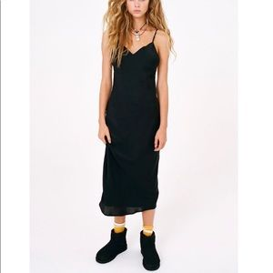 Urban outfitters black midi dress